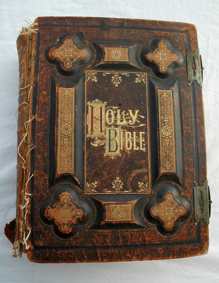 The Antique pieces of Bible